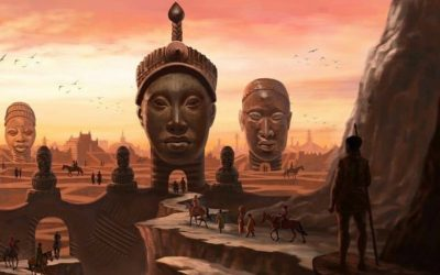 IFE city of Yoruba tribe, one of ancient African civilizations founded in 500 B.C