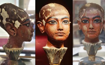 Head of King Tutankhamun as a child that reveals his black descent [1334 – 1325 B.C]